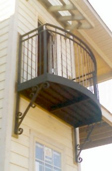 Aluminum And Wrought Iron Balconies