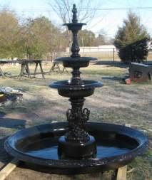 Three Tier Fountain In Basin