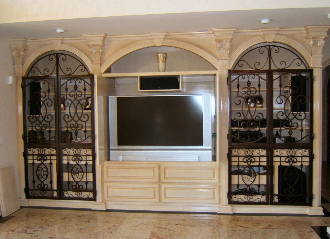 Iron Doors Modern Home House Design Ideas