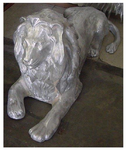 Cast Aluminum Lion